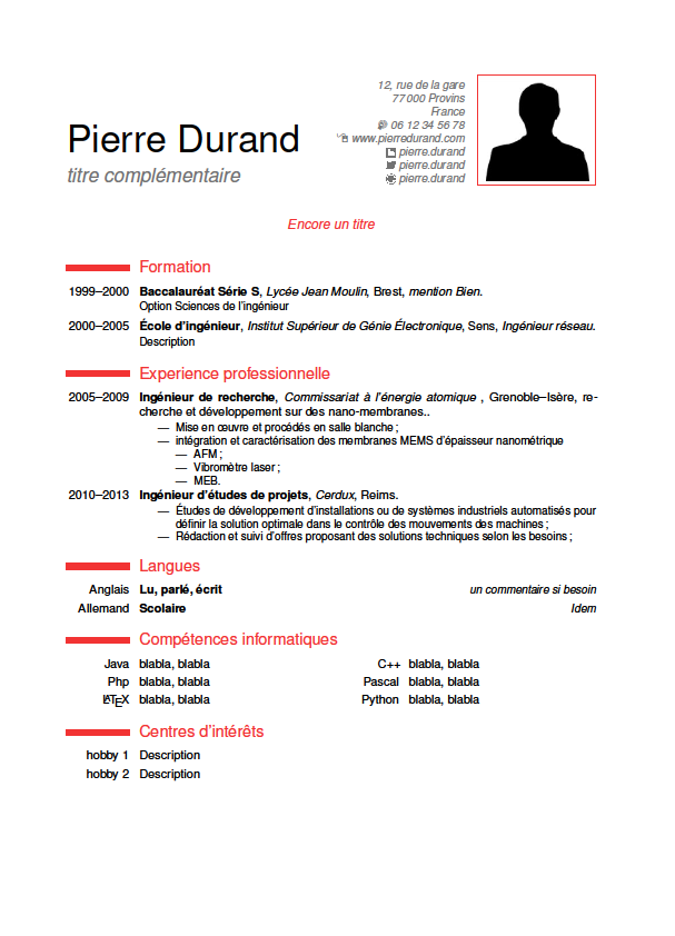 Latex Template Cv Latex Resume Cv Template Example Ted Pavlic